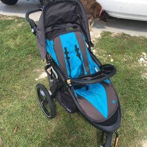 2 strollers, baby trend and graco double!